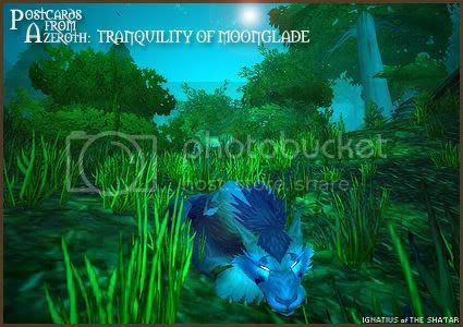 Postcards of Azeroth: Tranquility of Moonglade, submitted by Ignatius
