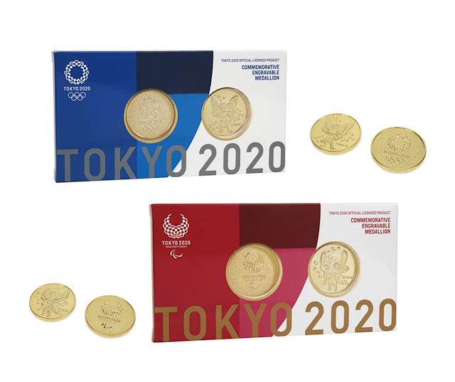 【東京奧運2020官方紀念金幣 24K 金】一套兩枚 東奧紀念品值得珍藏
