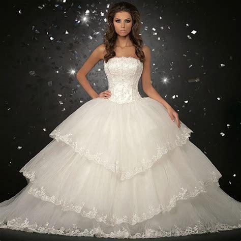2013 Luxury Organza Big Skirt Bride Ball Gown Wedding
