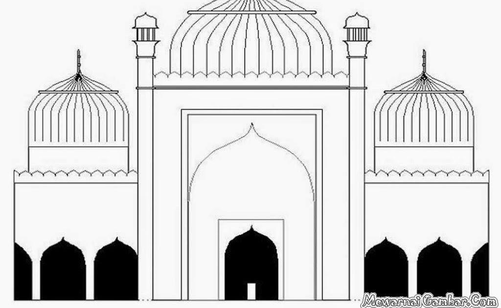 Gambar Masjid Untuk Mewarnai Anak Gambar Mewarnai Hd