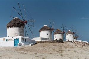 The famous windmills of Mykonos.