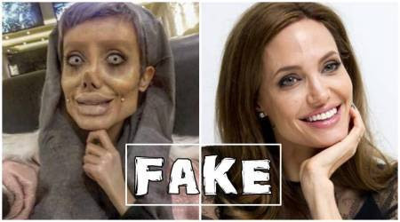 The truth behind the 'zombie' Angelina Jolie lookalike 'after 50 surgeries': It's ALL FAKE!