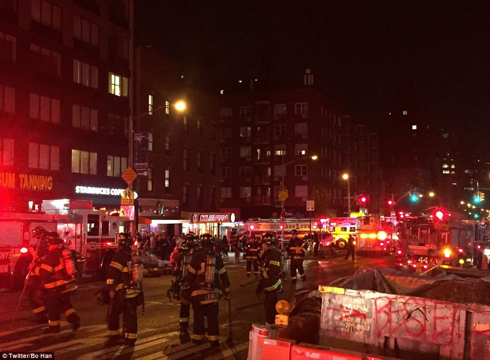 First responders on scene following the blast