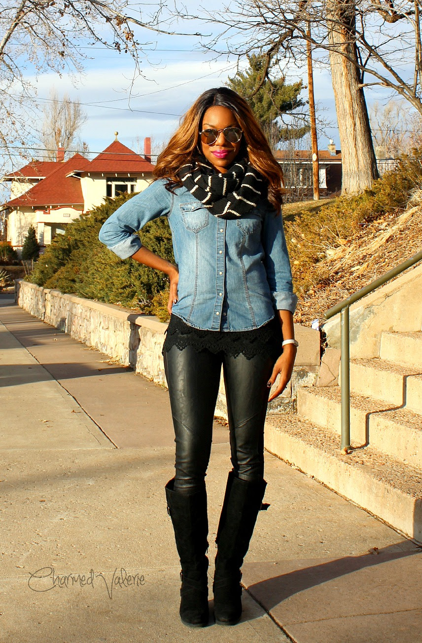 what i wore a fabulous coat  leather leggings  charmed