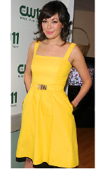 Lindsay Price wearing Shoshanna