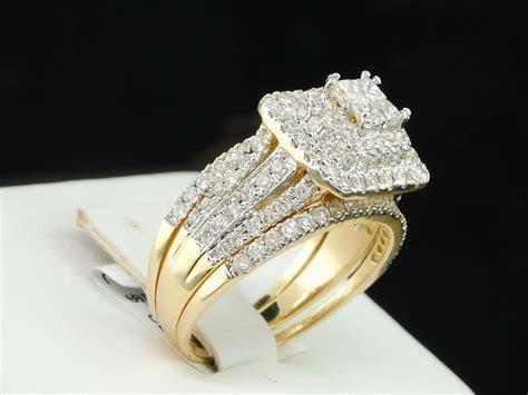 Ladies 14K Yellow Gold Princess Diamond Engagement Ring