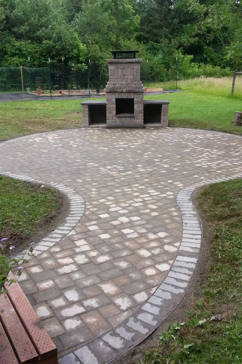 Chehalis Outdoor Fire Pit, Matching Paver Patio - AJB ...