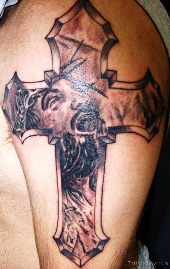 Jesus Cross Tattoo On Shoulder Tattoo Designs Tattoo Pictures