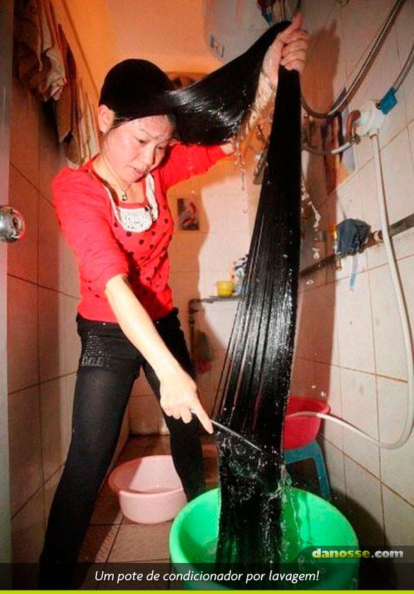 Sufoco para lavar o cabelo!