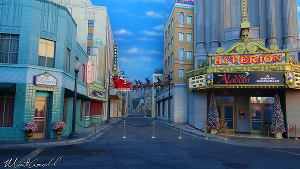Disneyland Resort, Disney California Adventure, HollywoodLand, Santa Claus, Christmas Time