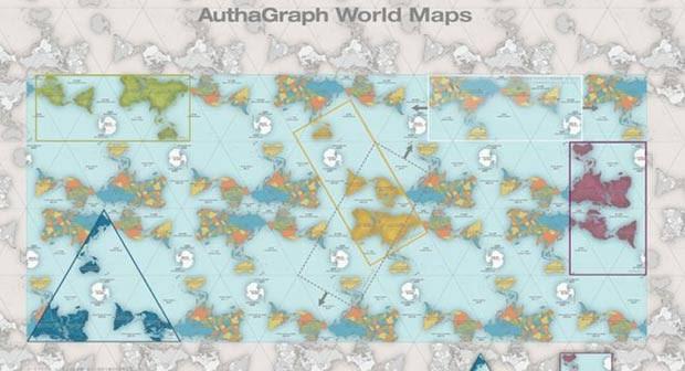 'AuthaGraph representa fielmente os oceanos e continentes, promovendo uma perspectiva precisa e moderna de nosso planeta',disse a instituição de premiou Narukawa (Foto: AutaGraph)