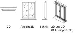 Fenster Schnitt Zeichnen - minimalistisches Interieur
