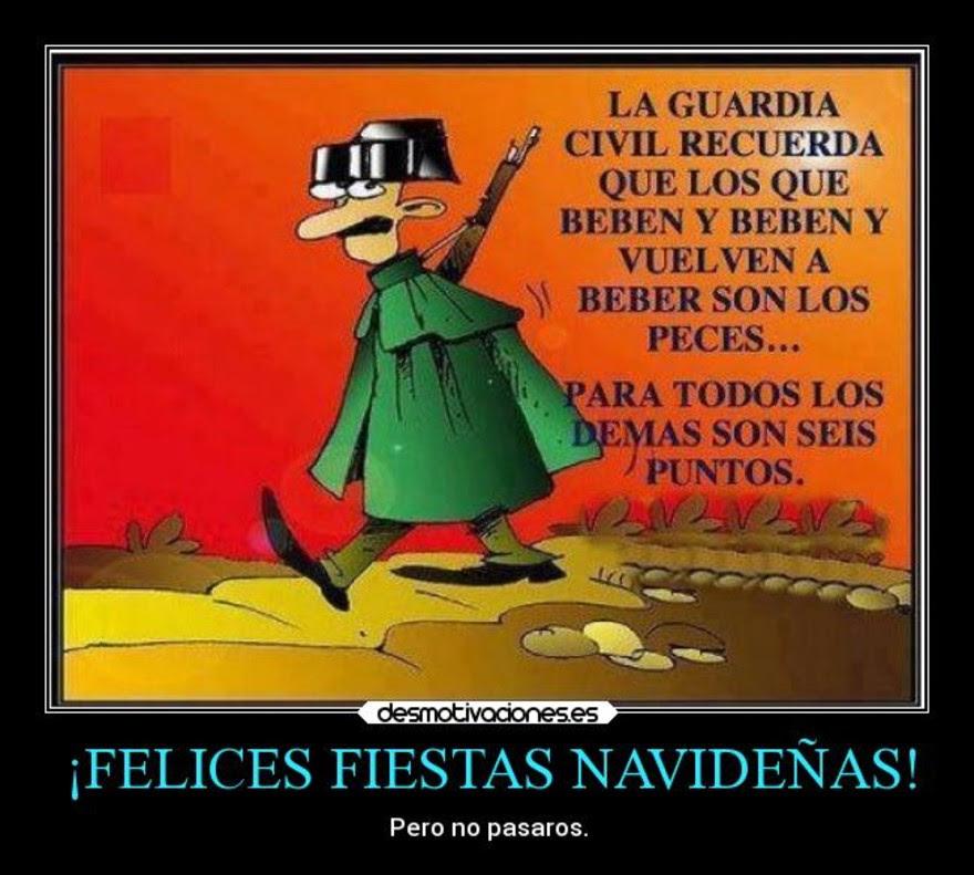 Resultado de imagen de La Guardia Civil recuerda que, Los que beben y beben y vuelven a beber son los Peces. Para todos Los Demás son seis puntos
