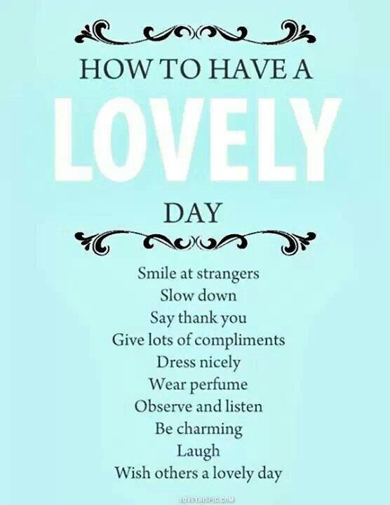 Mmgs English Blog At Pmcurie How To Have A Lovely Day