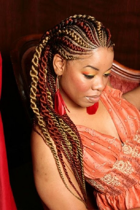 Latest plaited hairstyles