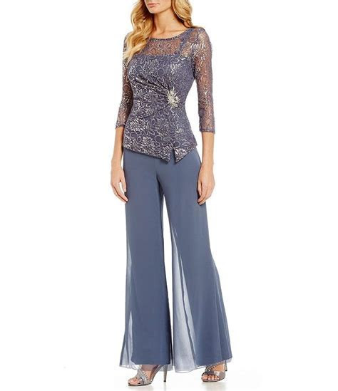 Shop for Emma Street Lace Chiffon 2 Piece Pant Set at