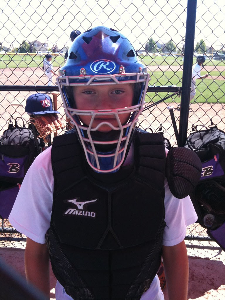 Jack in the catcher's gear