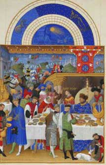 Enero, del calendario de �Las horas del Duque de Berry�.