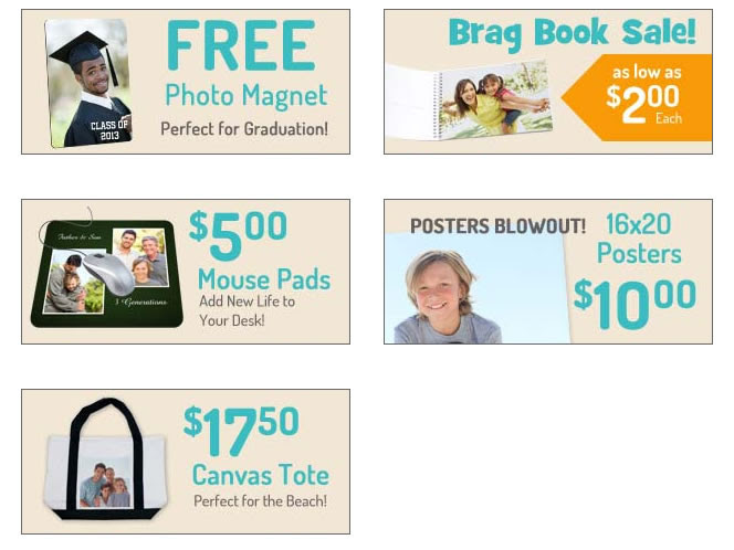 Mailpix.com Monthly Awesome Photo Deals.