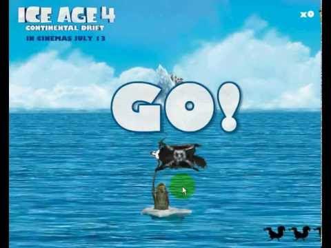 วีดีโอตัวอย่างการเล่นเกมส์ไอซ์ เอจ 4 ผจญภัยเก็บลูกโอ๊ค Ice Age 4 Acorns Ahoy