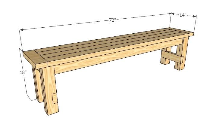 Towo detail wood bench plans