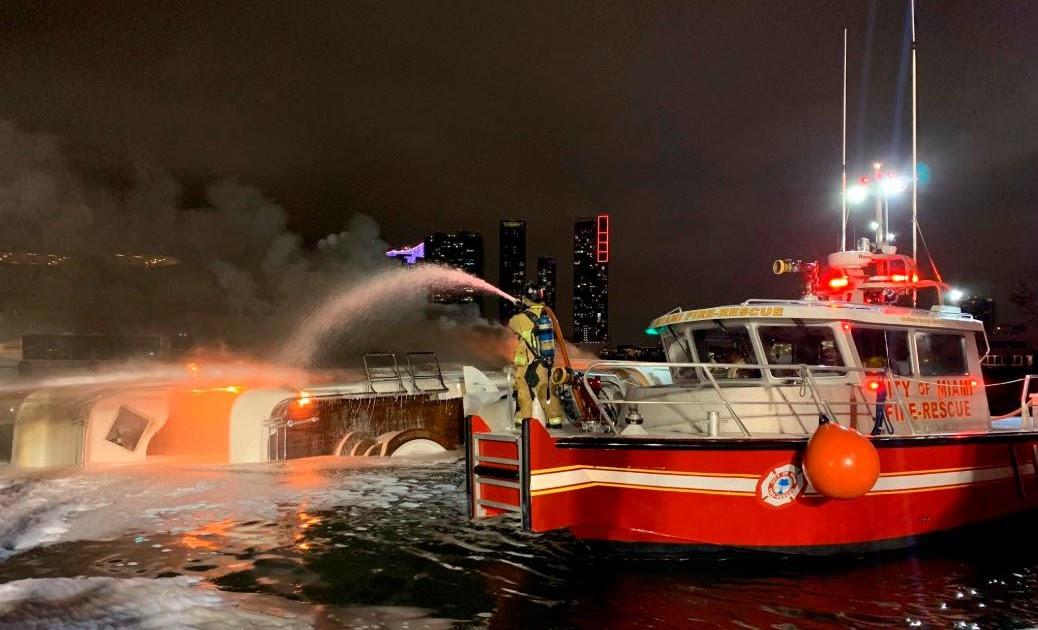 VER VIDEO, EN MIAMI: Se incendia lujoso yate de 7 millones de dólares del cantante Marc Anthony
