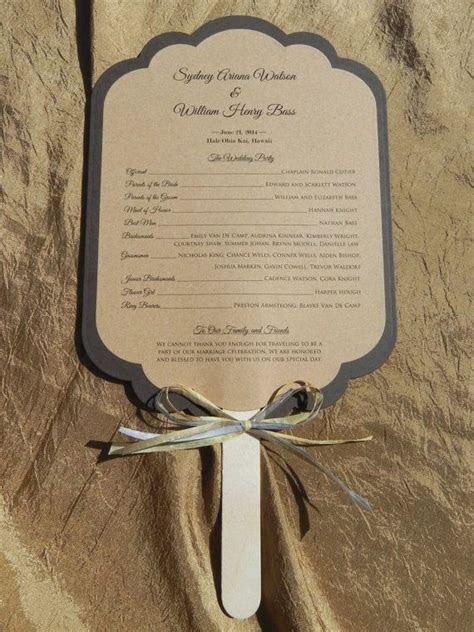 scalloped rectangle rustic wedding program