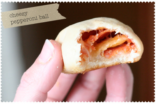 Homemade Cheesy Pepperoni Ball