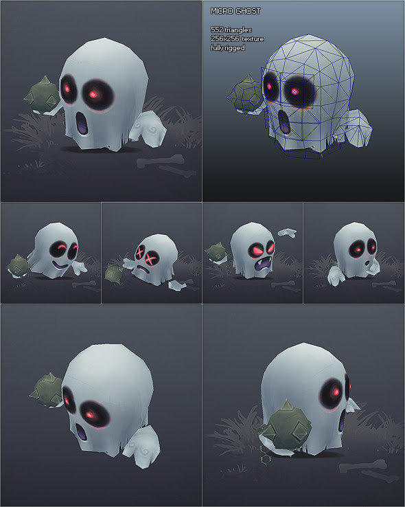 Low Poly Micro Ghost Hubert 3DOcean -  Fantasy and Fiction  Monsters and Creatures 1734476 torrent