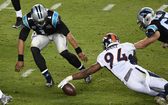 The Broncos were questioning Cam Newton's effort in the big game. (USATSI)