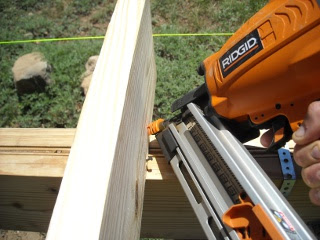 Toe-Nailing Floor Joist with Nail Gun