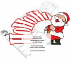 HoHoHo Santa Claus Yard Art Woodworking Pattern - fee plans from WoodworkersWorkshop® Online Store - HoHoHo,Santa Claus,ho ho ho,yard art,painting wood crafts,scrollsawing patterns,drawings,plywood,plywoodworking plans,woodworkers projects,workshop blueprints