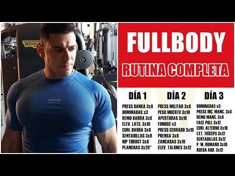 La mejor rutina fullbody de 3 días para ganar masa muscular