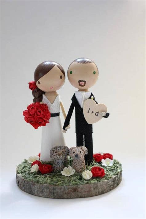 Wedding Cake Toppers with Dogs   Emmaline Bride® Wedding Blog