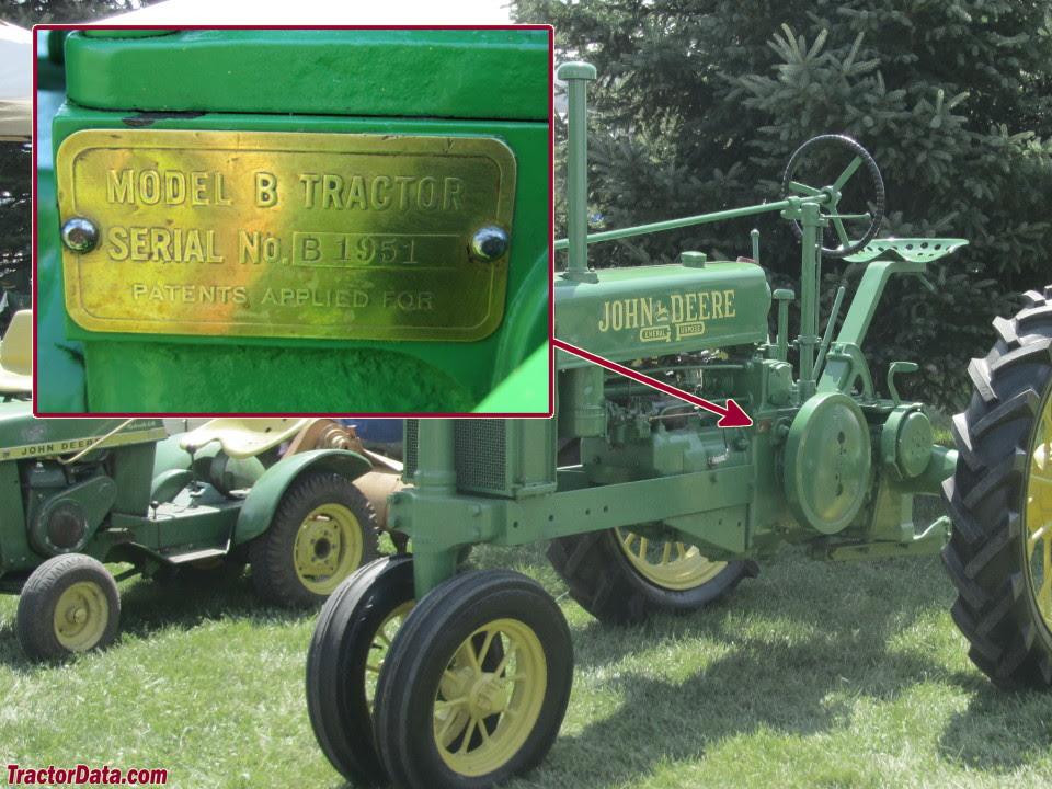 Tractordata Com John Deere B Tractor Information