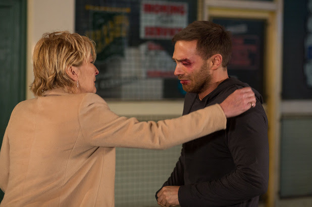 Shirley tries to comfort Dean