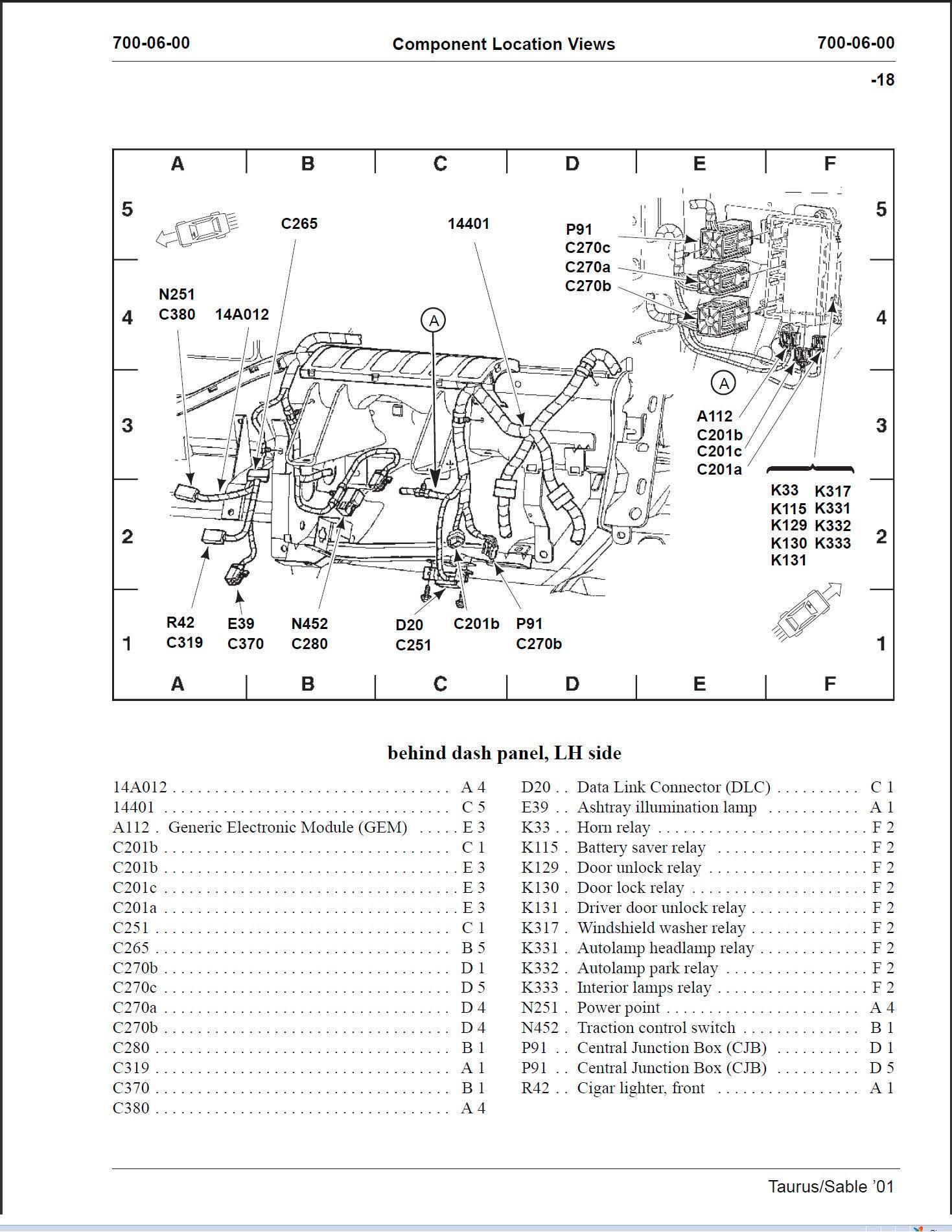 Wagon rear liftgate unlock - Taurus Car Club of America ...