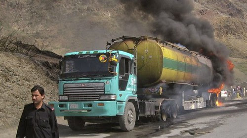 Afghanistan resistance bomb tankers belonging to imperialist military forces on August 30,  2012. The war in central Asia rages on without an end in sight. by Pan-African News Wire File Photos