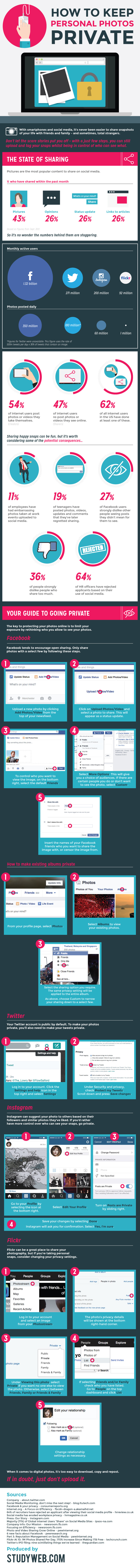 How to Change Photo Privacy Settings on Facebook, Twitter and Other Popular Social Networking Sites - #Infographic