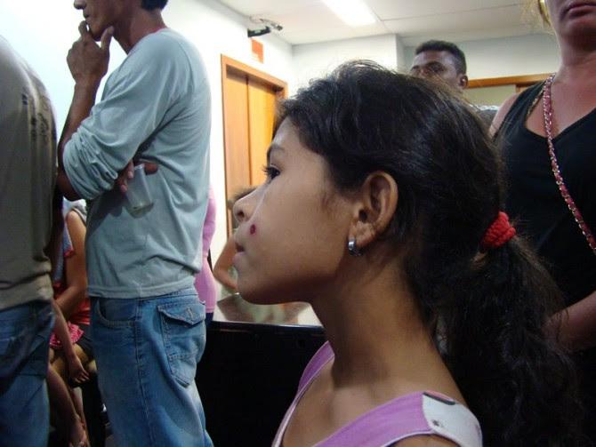 Menina de 10 anos foi atingida com balas de borracha no rosto - Foto: Defensoria Pública