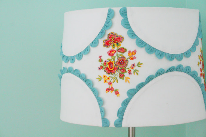 Lampshade in nursery