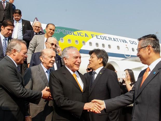 Temer chega à China (Foto: Beto Barata/PR)