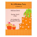 Orange Cake and Cupcakes Birthday Invitation