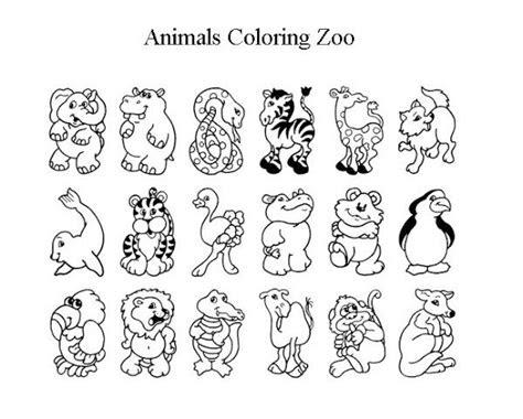 zoo coloring sheet   cute zoo animal coloring