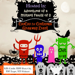 CooCoo over Costumes Halloween Giveaway Event, Ends 10/18