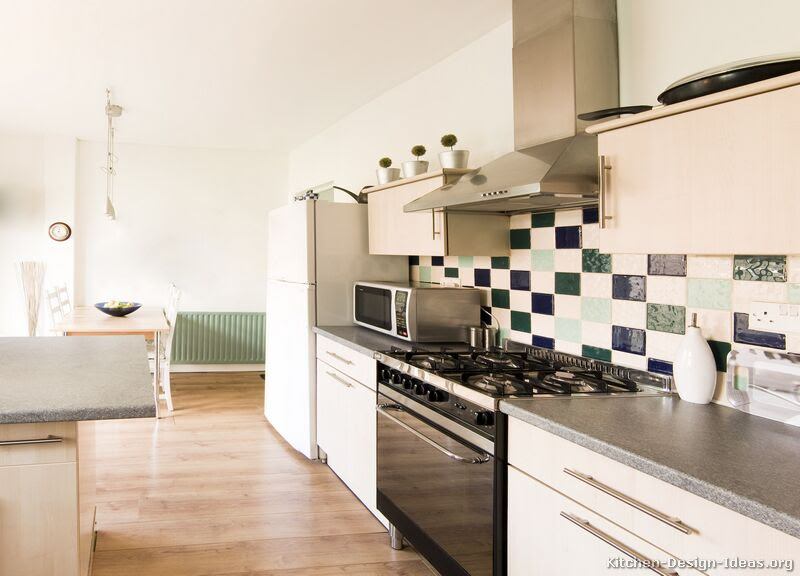 Pictures of Kitchens - Modern - Whitewashed Cabinets