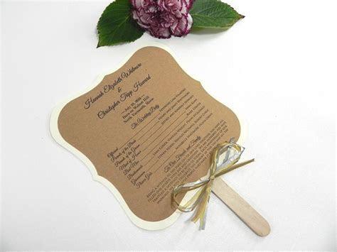 DIY KIT Custom Rustic Wedding Program Fans  Personalized
