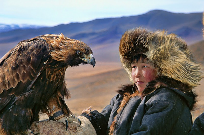 A Mystical Mongolian tribe that rides Reindeer and hunts with Eagles