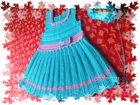Dress for girls crochet - work Elena Aferovoy