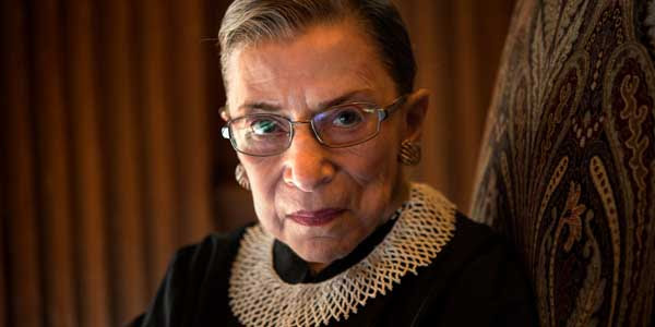 Justice Ruth Bader Ginsburg, one of five lawyers who created same-sex 'marriage' across the United States
